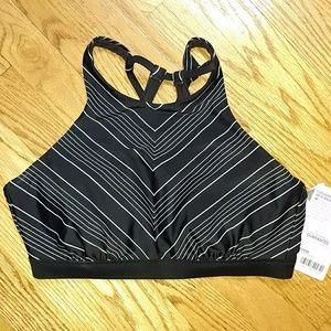 NWT Athleta chevron high neck bikini top 34D/DD